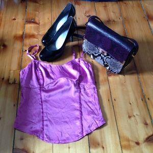 Purple silk top from Express